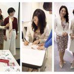 NHK文化センターにて骨格スタイル協会 師岡朋子先生のアシスタントを。