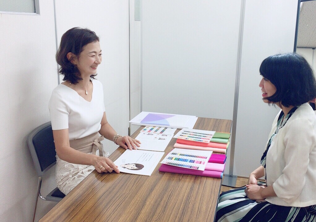 東武船橋店にてパーソナルカラ―診断 骨格診断