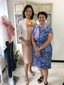 日本スカーフコーディネーター協会ベーシック講座のアシスタントで参加